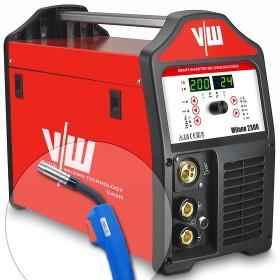 Máquina de soldadura MIG MAG 200A, Stick/MMA 170A, IGBT, para rollo de alambre de 5 kg   Milano 2300